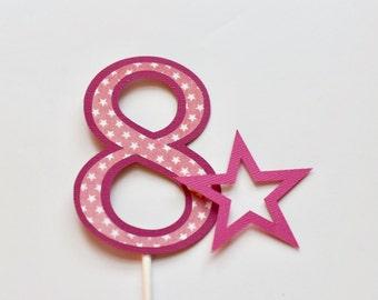 Birthday Girl, Doll party Cake Topper, Star cake topper