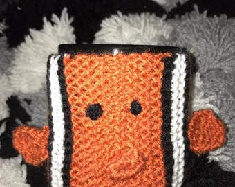 Knitted Clownfish Cup Cosy