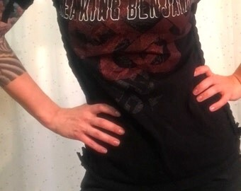 Breaking Benjamin boatneck Top Size Small/Medium weave sides and sleeves