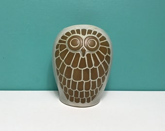 Vintage Large Owl Planter by David Stewart for Lion's Valley Pottery