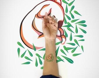 Koala temporary Tattoo / Australia Koala Temporary Tattoo / Animal Temporary Tattoo / Nature Temporary Tattoo / Cute Koala Temporary Tattoo