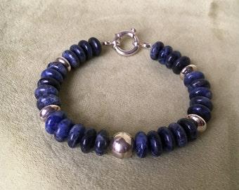 Sodalite & Silver Bracelet