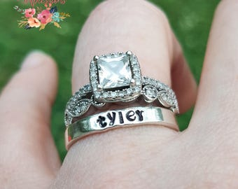 Mother's Stackable Stamped Rings