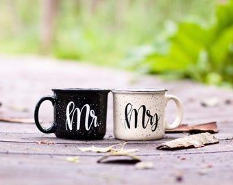 Mr. + Mrs. Campfire Mug Set