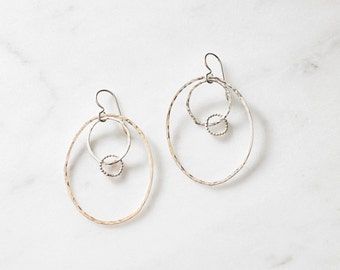 Beaded Swing Hoops