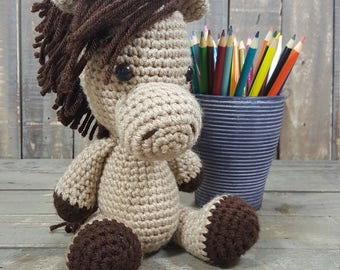 Handmade Mustang Horse Crochet Amigurumi PATTERN ONLY. Stuffed Animal / Plush / Stuffie / Plushie / Doll. USA Created.