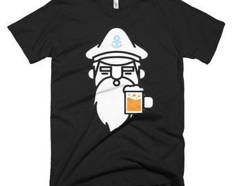 Sea Captain T-shirt Sailing Beards and Beer. Pirates!