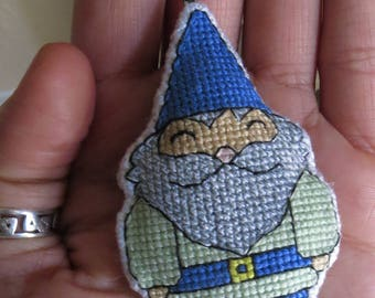 Hector the Happy Gnome; Unique Charm Decoration for key chains, bags, backpacks, zippers, purses, vehicle rearview mirrors