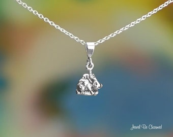 """Tiny Sterling Silver Koala Necklace 16-24"""" Chain or Pendant Only .925"""