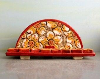 Ceramic menorah, Hanukkah decorations , Hanukkah gift , Chanukkiya, Hand made menorah, Hanukkah menorah, Modern menorah, Flowers menorah