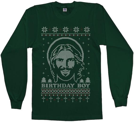 Birthday Boy Jesus Ugly Christmas Sweater Men's Short