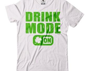 St Patrick's Day T-Shirt Drinking T-Shirt Funny Irish Pub Drink Mode On Tee Shirt