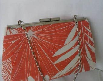 Coral orange wedding summer evening tropical beach wedding Bridesmaids clutch purse BBsCustomClutches