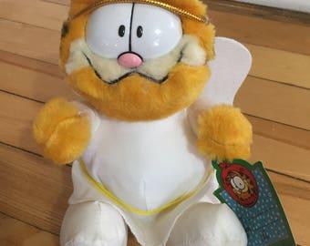 Vintage 1980s McDonald's Angel Garfield Plush Stuffed Doll Toy!
