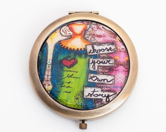Compact Mirror - Hand Mirror - Inspirational Gifts for Women - Travel Gift - for Her - Best Friend Gifts - Gift for Wife - Graduation Gift