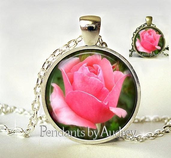 Rose pendant rose necklacerose jewelry picture pendantpink like this item audiocablefo light ideas