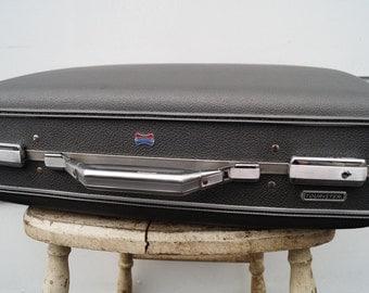 Vintage American Tourister Luggage - Steel Grey