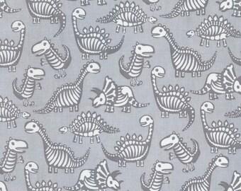 Dinosaur Skeletons Fabric; You Choose Size; C5603 Timeless Treasures Dino-Mite; Novelty Fabric; T-Rex, Stegosaurus, Brontosaurus