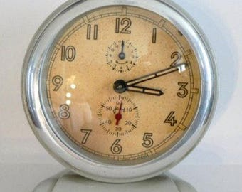 1940s Vintage French Alarm Clock Japy Large size All original