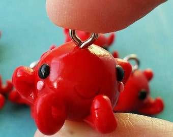 cute octopus polymer charm