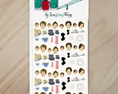 By a Lady Handpainted Pride and Prejudice Nail Art Decals