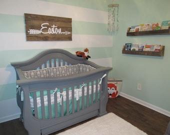 Rustic Baby Room, Arrow Nursery Sign, Nursery Name Sign, Rustic Arrow Wall Decor, Woodland Nursery,Wooden Signs, Name Sign, Kids Room Decor