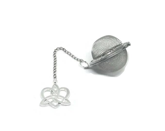 Unique Celtic Heart Handmade Tea Ball | Celtic Knot Loose Tea Infuser Mesh Ball Tea Strainer | Metal TeaBall Strainer | Yoga Tea Ball Mom