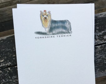 Yorkshire Terrier Dog Note Card Set