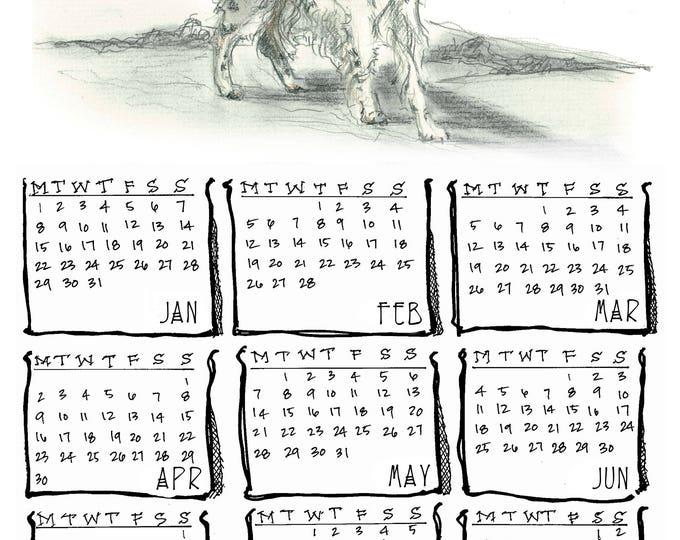 English Setter 2018 yearly calendar