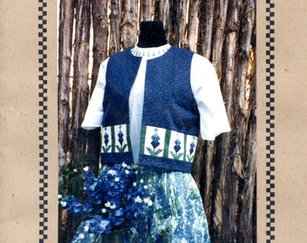 Bluebonnet Vest sewing and quilting pattern by Peggy Morton | Craft Pattern