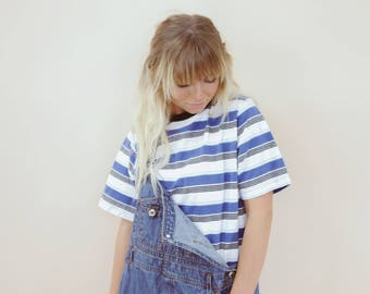 90's Blue Striped Tee