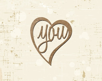 Love You Laser Cut Chipboard Scrapbooking Embellishment