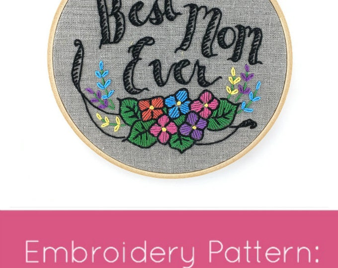 Mother's Day Embroidery Pattern - Digital Download