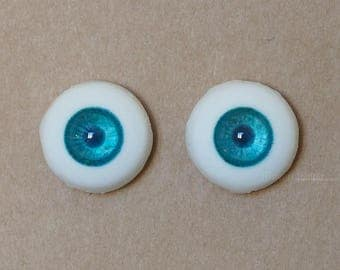 18mm Moonteahouse (Mth) Eyes - Handmade Blue / Green Resin Eyes for BJD, ABJD and Dolls [17052]