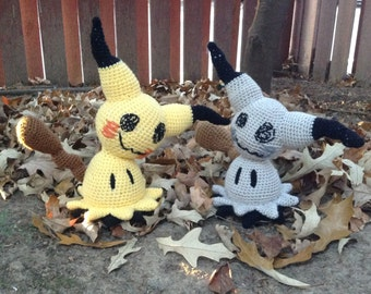 Pokemon Inspired: Life-Size Mimikyu  (Crochet Plushie/Plush Toy) in normal or shiny colors!  - MADE TO ORDER!