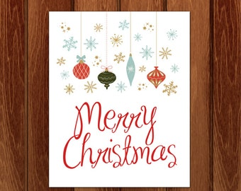 Merry Christmas, Christmas printable art, Instant Download