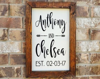 Wedding Established Sign Wedding Mr and Mrs Sign Wedding Gift Family Established Sign Wedding Date Sign Bridal Shower Gift Ideas