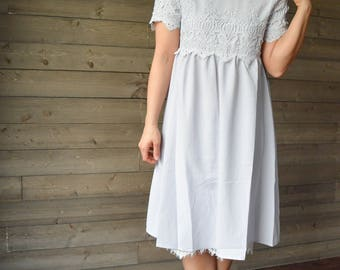 SALE (8 DOLLARS OFF) Dusty Lilac Lace Dress