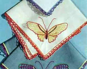 E-Pattern Butterfly Handkerchiefs Pattern