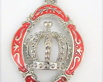 Jewelry Supplies ~   Pendant  Red  Crown