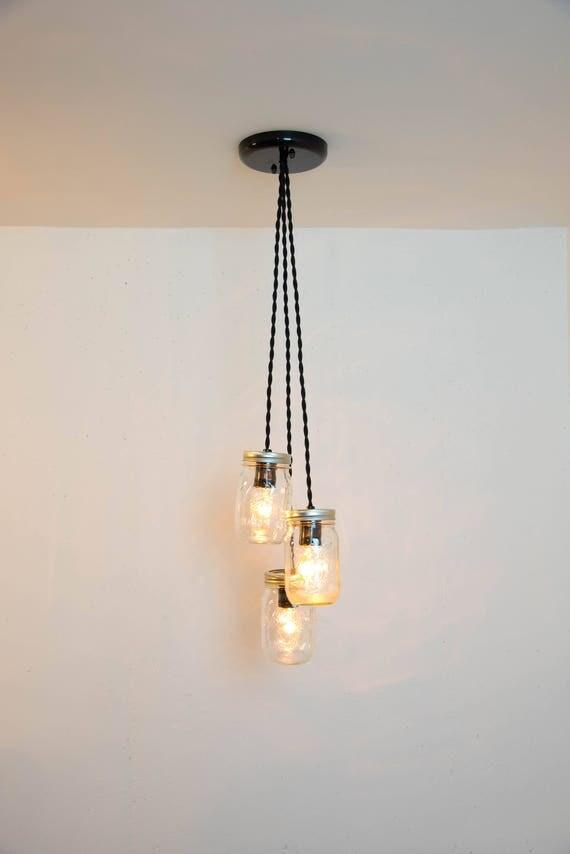 jar chandelier jar pendant light fixture 3 jars
