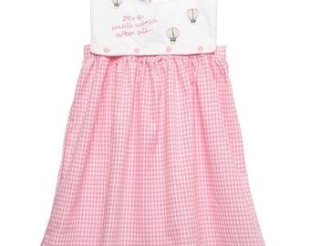 Hand Embroidered Small World Bib Dress