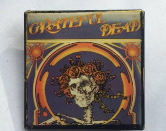 Grateful Dead Original 1980s Vintage Square Pin