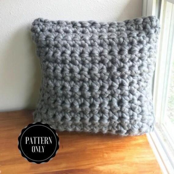 Chunky Finger Crochet Pillow Pattern Chunky Crochet
