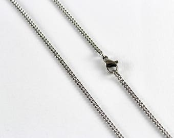 12 x Necklace Chains Stainless Steel 50cm