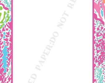 Lilly Pulitzer notepad set (two) personalized- Monogram- Initial- Memo Pad- To Do List