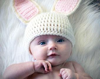 Baby Bunny Costume, Baby Halloween Costume, Newborn Bunny Hat, Baby Bunny Photo Outift, Crochet Bunny Outfit, Newborn Halloween Costume