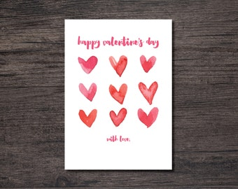 Happy Valentine's Day Card | DIY Happy Valentine Day Card | Fill-in Signature Valentine Card | Fill-in Signature Card | INSTANT DOWNLOAD