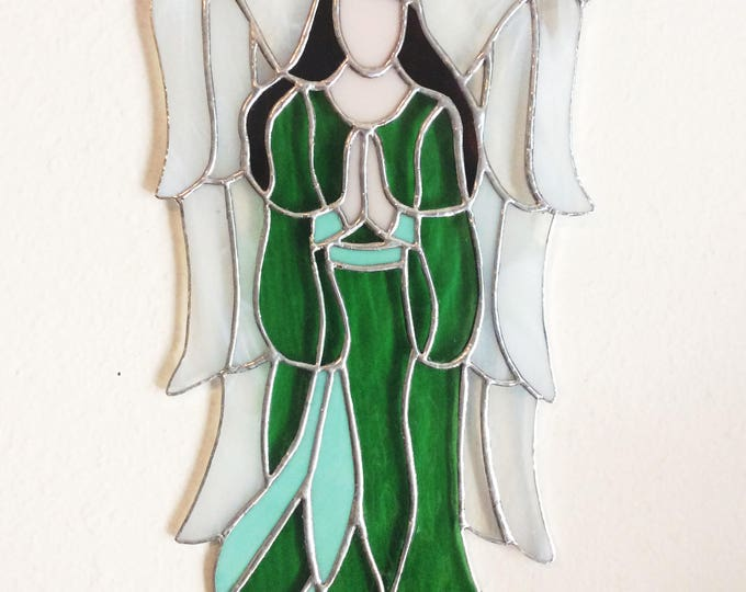 Stained Glass Angels, Tiffany style, Angel Suncatcher, Angel Decor, Best selling Items, glass art, Gift for her,  prism suncatcher