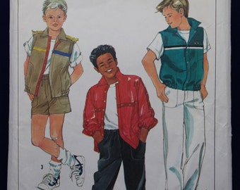 Sewing Pattern for a Boys Shorts, Trousers, Jacket & Vest Age 10 - Simplicity 6872